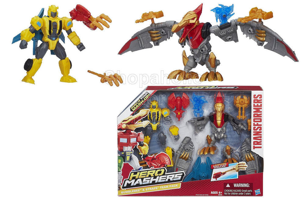 Transformers Hero Mashers Bumblebee & Strafe Mash Pack - Shopaholic for Kids