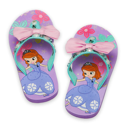 Sofia Flip Flops  - Royal steps