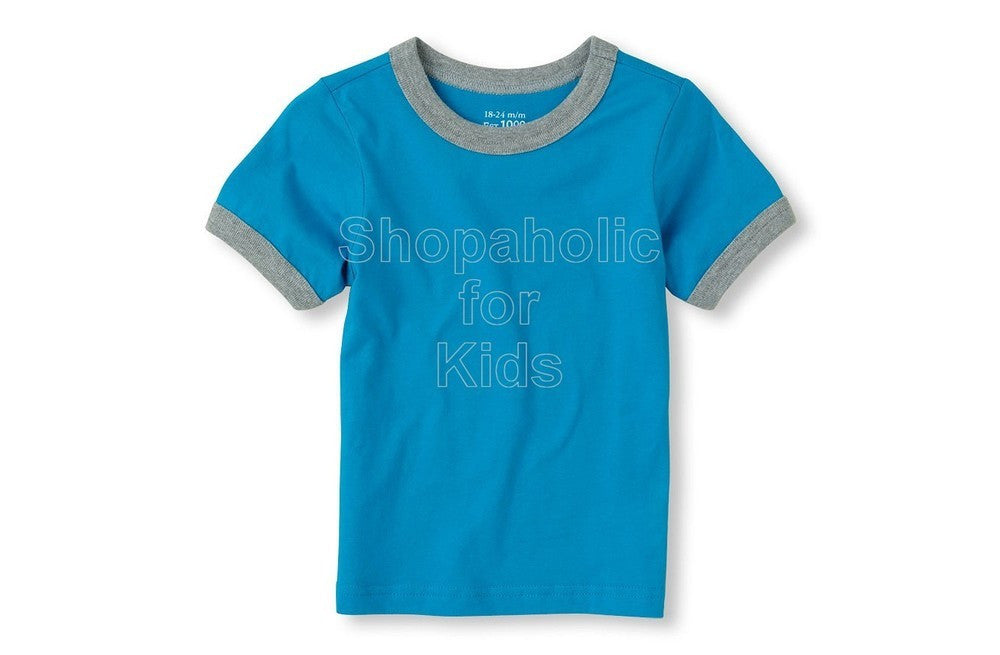 Children's Place Basic Tee - BR Marine - Shopaholic for Kids