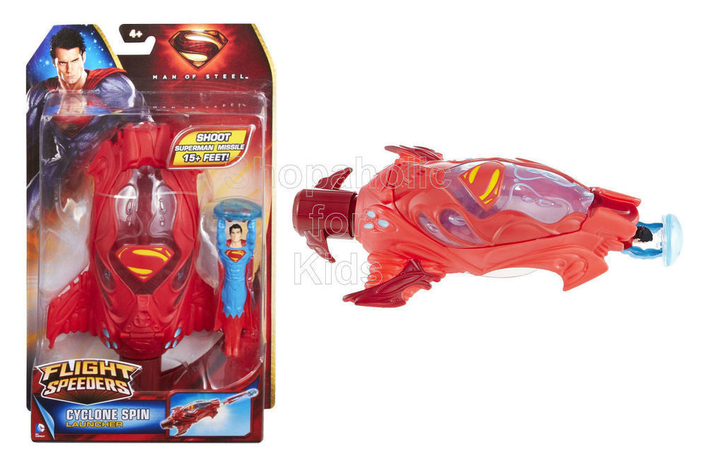 Superman Man of Steel Flight Speeders: Cyclone Spin Launcher - Shopaholic for Kids