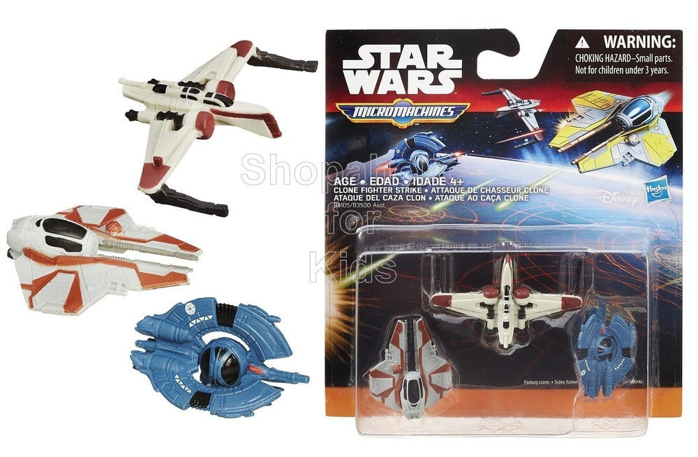 Star Wars Revenge of the Sith Micro Machines 3-Pack Clone Fighter Strike - Shopaholic for Kids