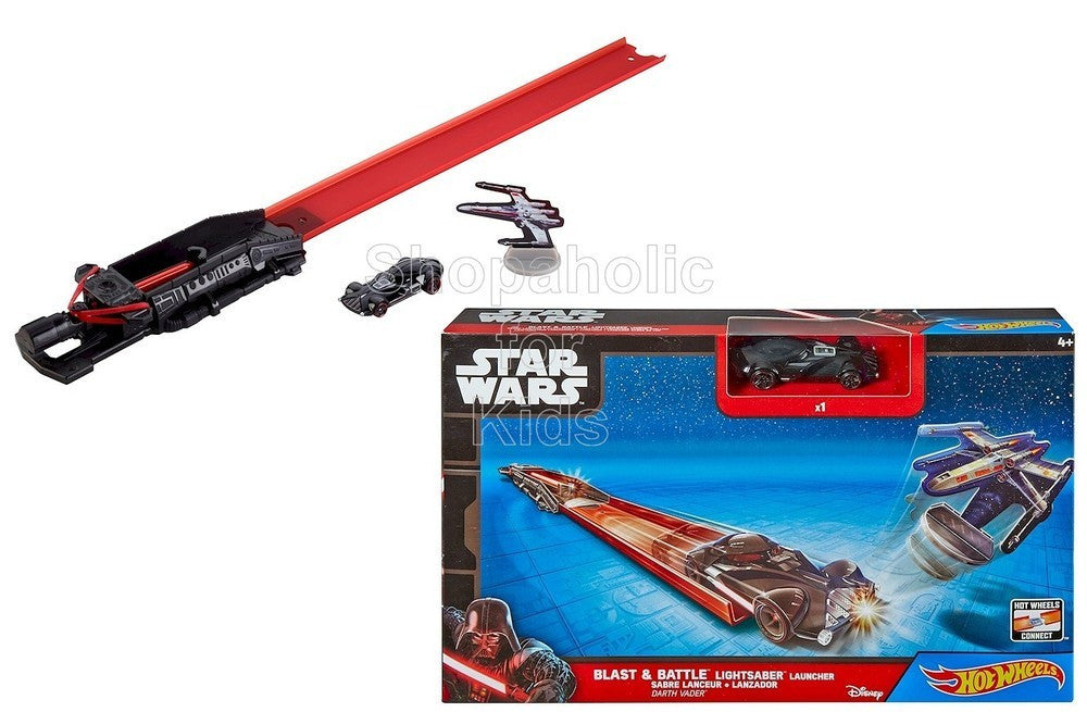 Hot Wheels Star Wars Blast and Battle Darth Vader Lightsaber Launcher - Shopaholic for Kids