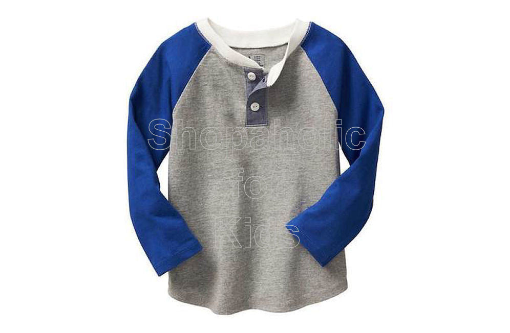 Old Navy Factory Colorblock Raglan Henley - Light Heather - Shopaholic for Kids
