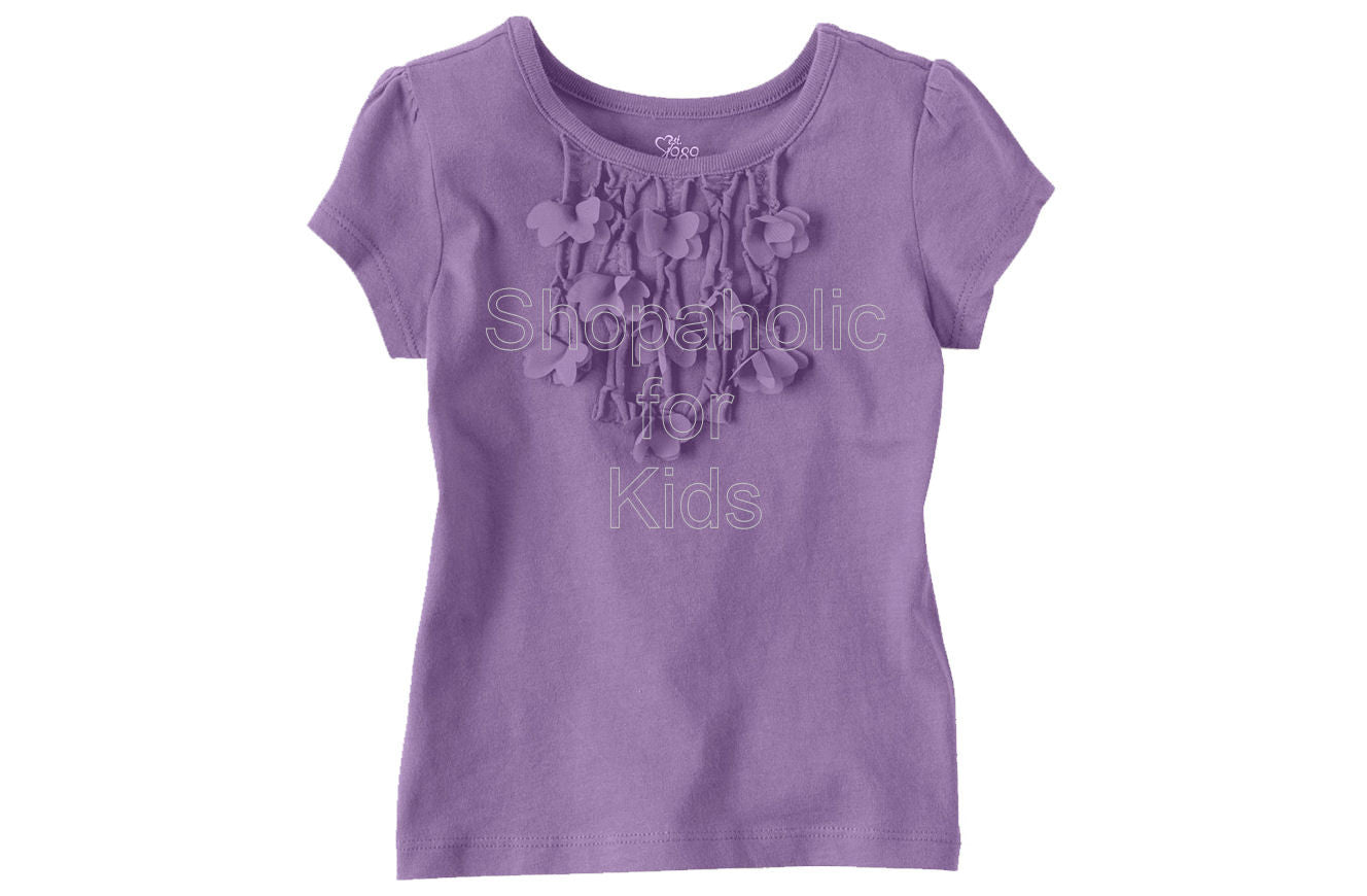 Children's Place 3D Butterfly Top - Violet - Shopaholic for Kids