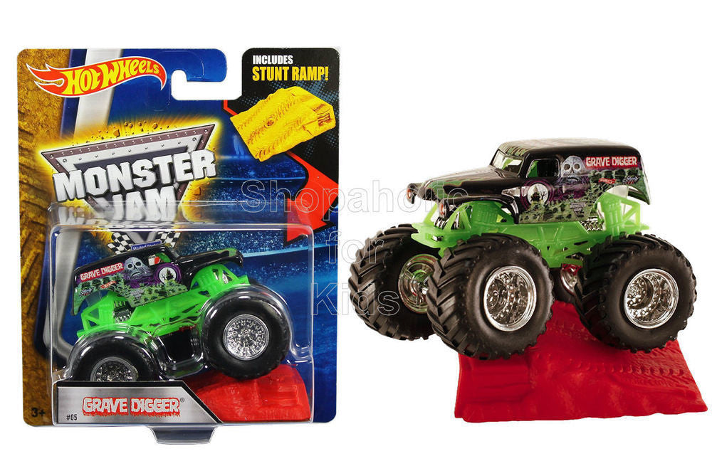 Hot Wheels Monster Jam - Grave Digger with Stunt Ramp - Shopaholic for Kids