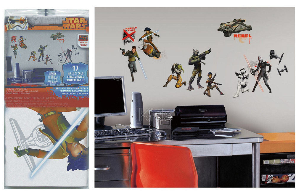 Star Wars Rebels Peel and Stick Wall Decals - Shopaholic for Kids