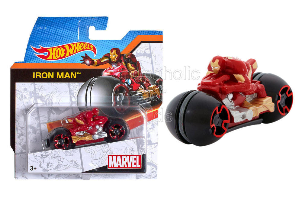 Hot Wheels Marvel Moto with Rider - Iron Man - Shopaholic for Kids