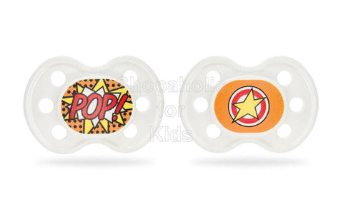 BooginHead Superhero POP Pacifier - 2pcs