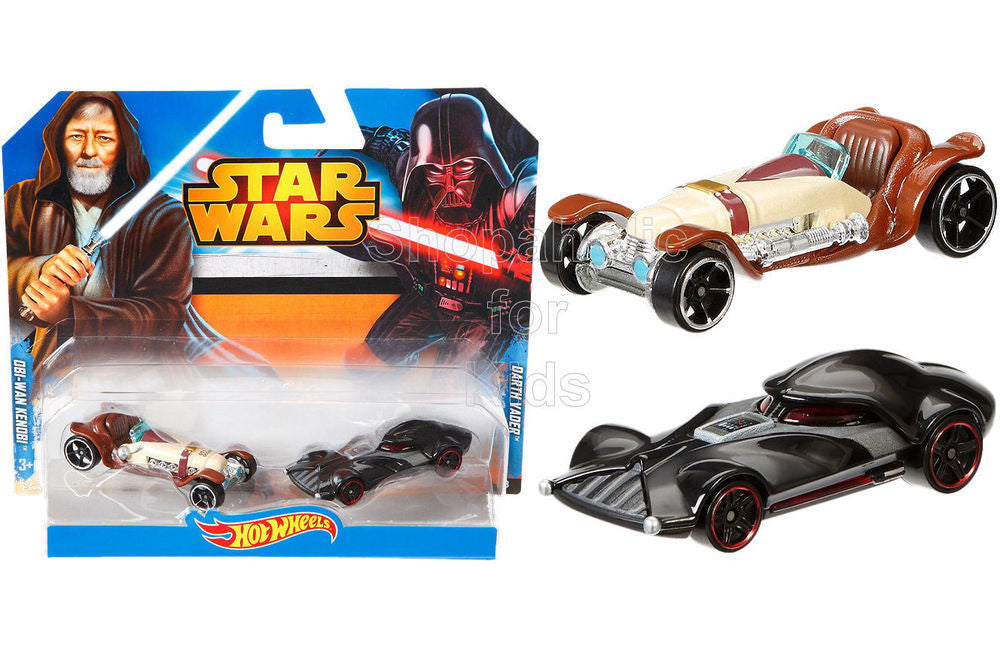 Hot Wheels Star Wars Obi-Wan Kenobi vs. Darth Vader Character Car 2-Pack - Shopaholic for Kids