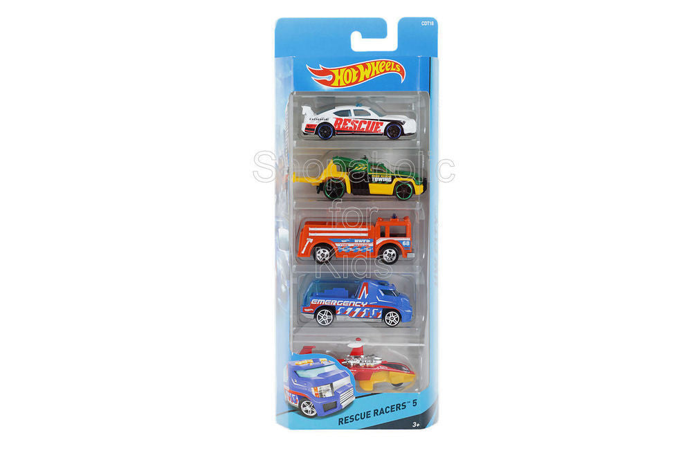 Hot Wheels 5 Car Gift Pack - Rescue Racers - Shopaholic for Kids