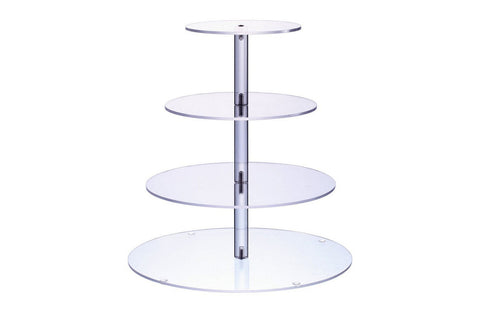 Delish Treats 4 Tier Acrylic Cupcake Stand
