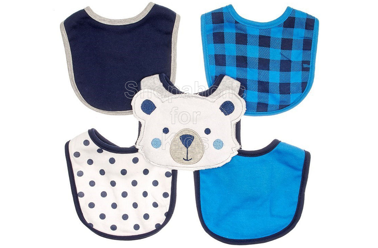 Rene Rofe Bear Bibs, 5-pack - Shopaholic for Kids