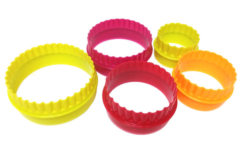 Delish Treats 5pc Scalloped Round Cookie Cutter