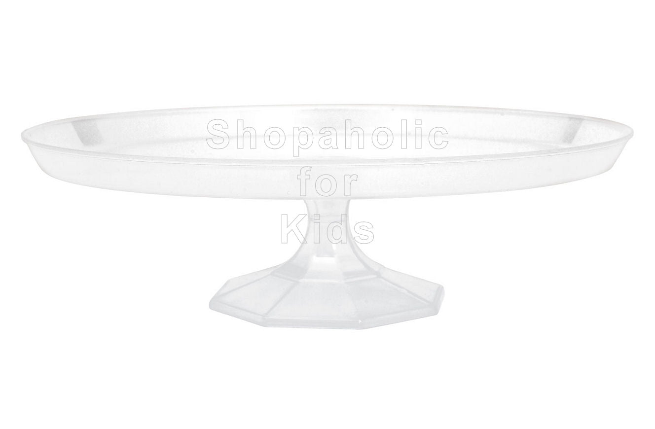 Amscan Clear Plastic Cake Stand - Shopaholic for Kids