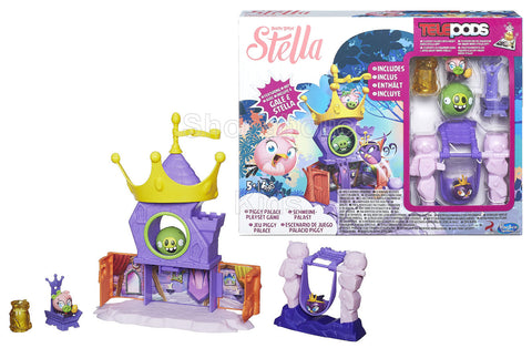 Angry Birds Stella Telepods Piggy Palace Playset Game