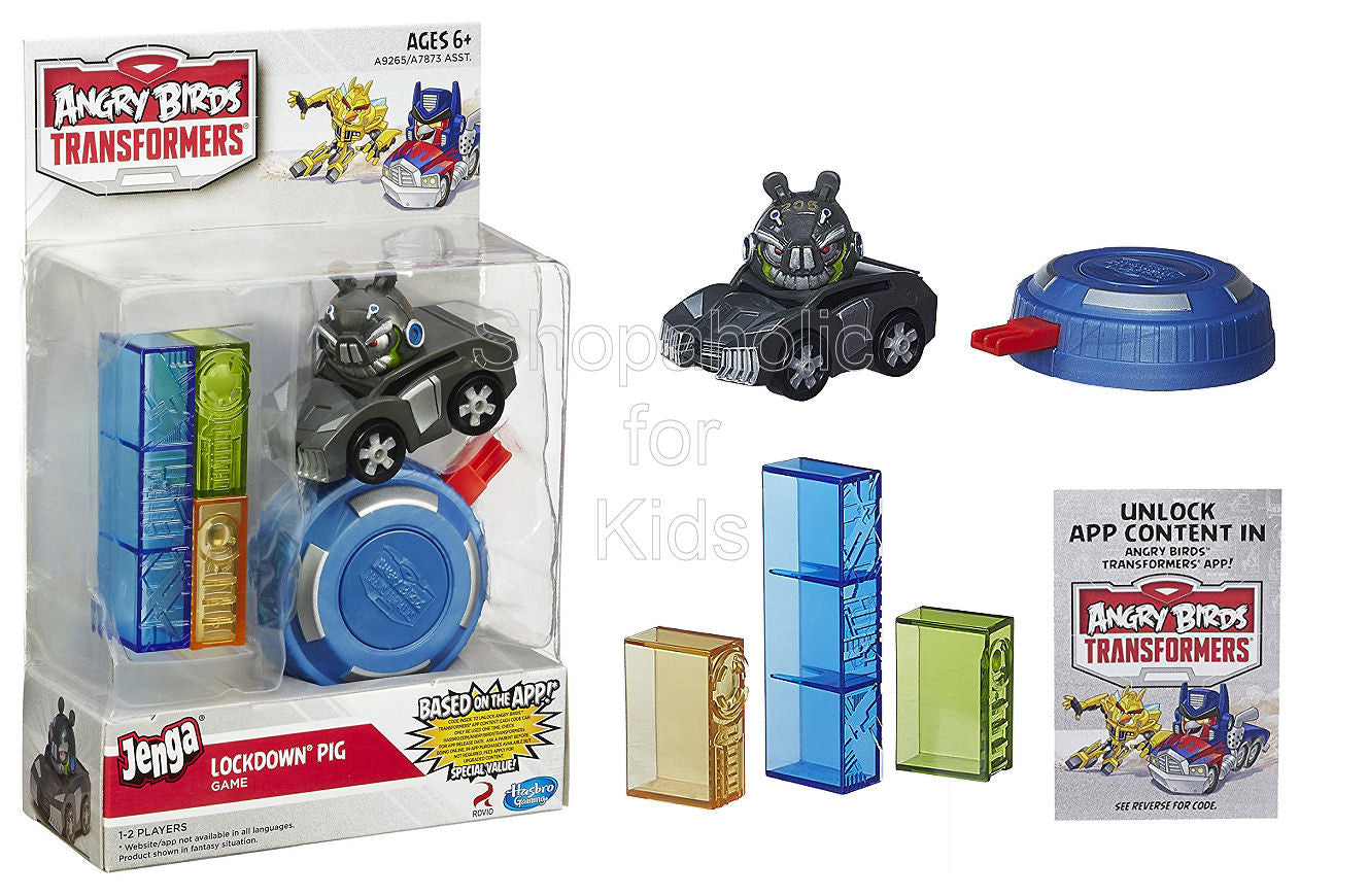 Angry Birds Transformers Jenga Lockdown Pig Game - Shopaholic for Kids