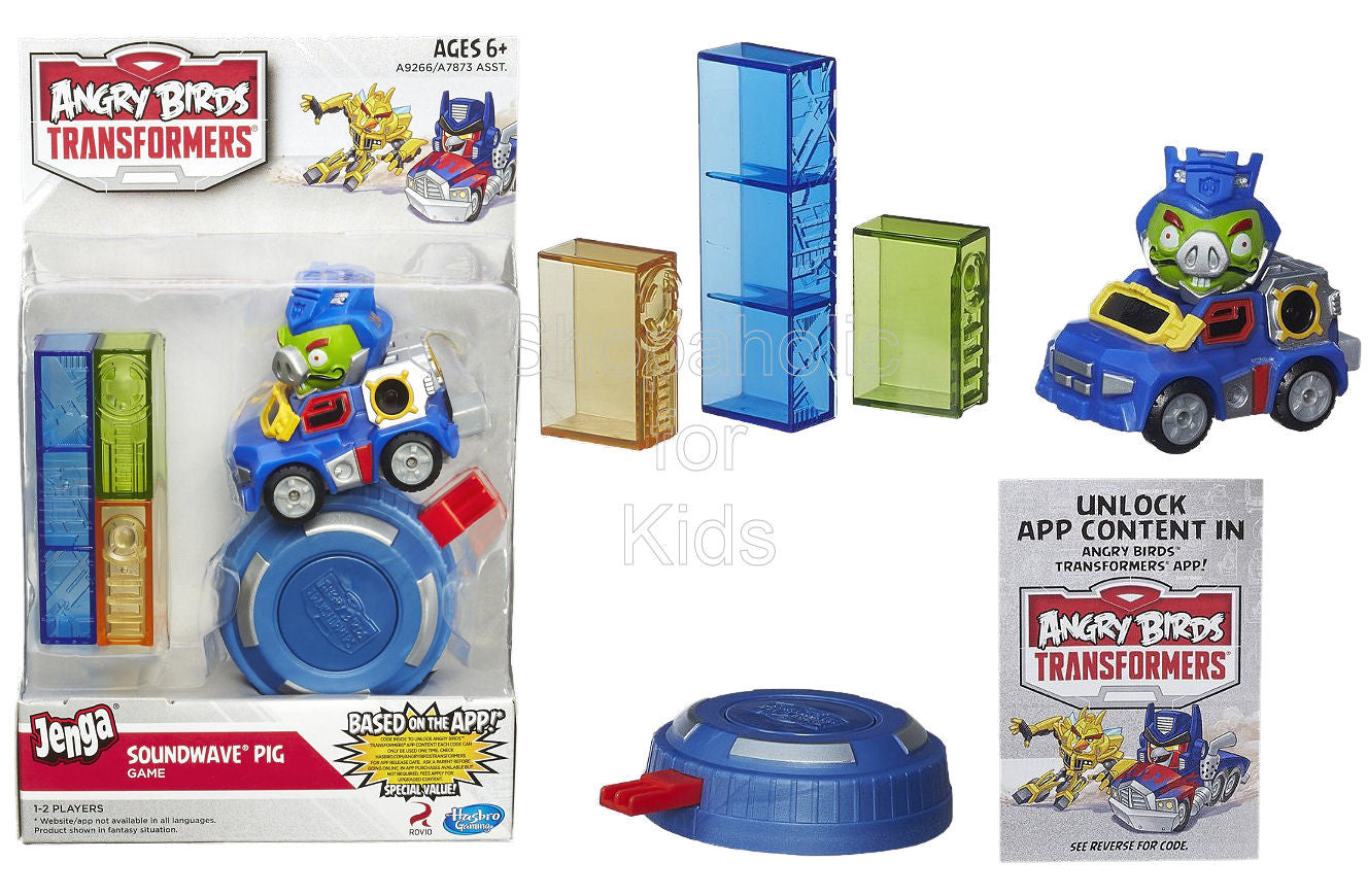 Angry Birds Transformers Jenga Soundwave Pig Game - Shopaholic for Kids