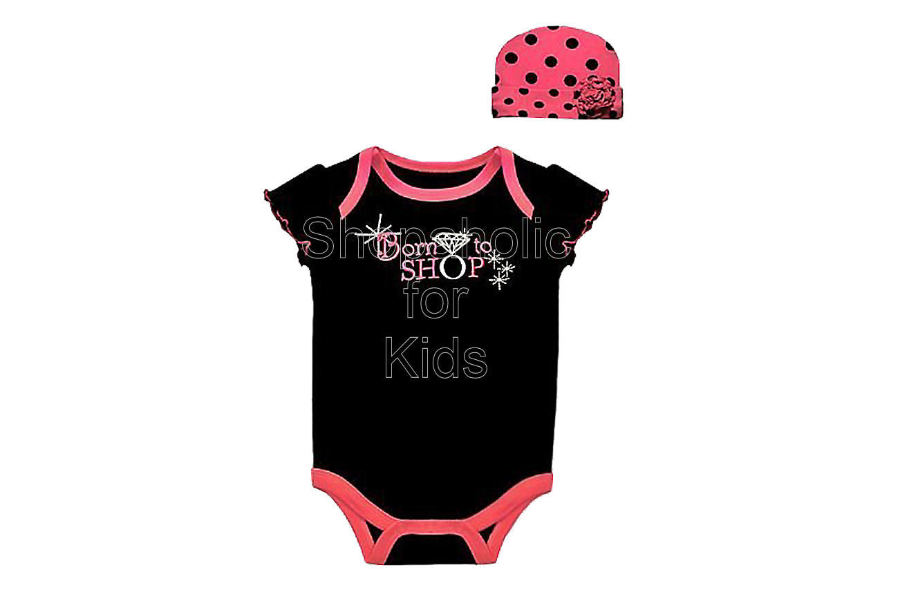 Baby Essentials Baby Girls Bodysuit/Onesie with Cap - Shopaholic for Kids