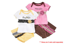 Baby Essentials Baby Set, Baby Girls T-Shirt and Shorts