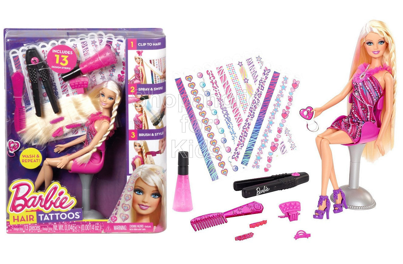 Barbie Hair Tattoos Doll