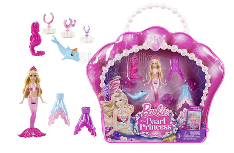 Barbie The Pearl Princess Mini-Doll Vinyl Bag Gift Set