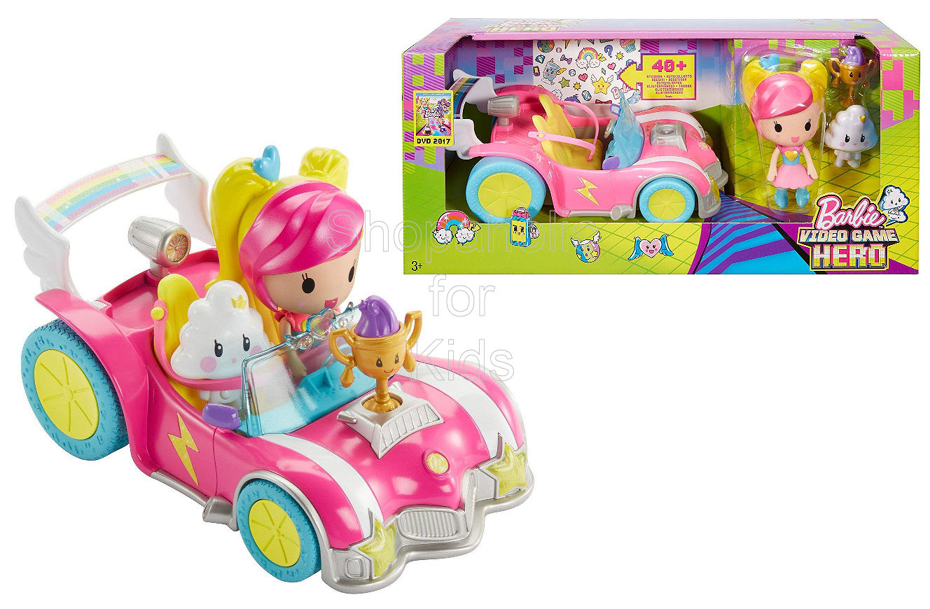 Barbie Video Game Hero Vehicle and Figure Playset - Shopaholic for Kids