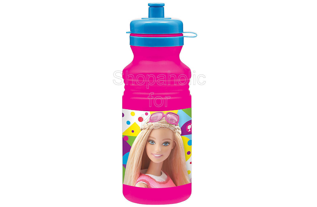 Barbie Water Bottle 18oz - Shopaholic for Kids