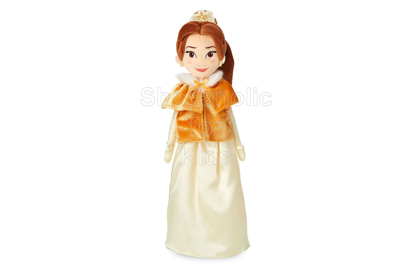 Disney Princess Belle Plush Doll in Winter Cape