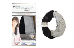 Itzy Ritzy Nursing Happens Luxe Infinity Breastfeeding Scarf (Black w/Leather Cuff)