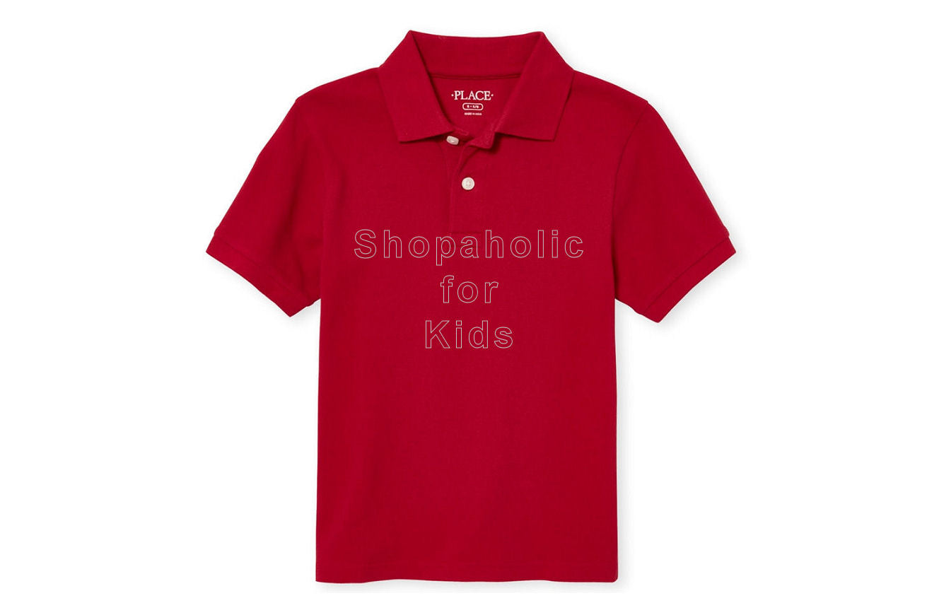 Children's Place Pique Polo - Classic Red - Shopaholic for Kids