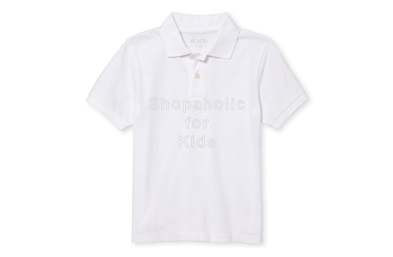 Children's Place Pique Polo - White - Shopaholic for Kids