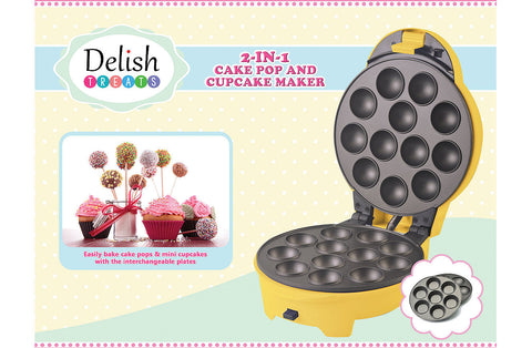 Delish Treats Cake Pop and Cupcake Maker (2 in 1) - FREE SHIPPING