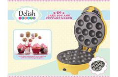 Delish Treats Cake Pop and Cupcake Maker (2 in 1) - FREE SHIPPING - Shopaholic for Kids