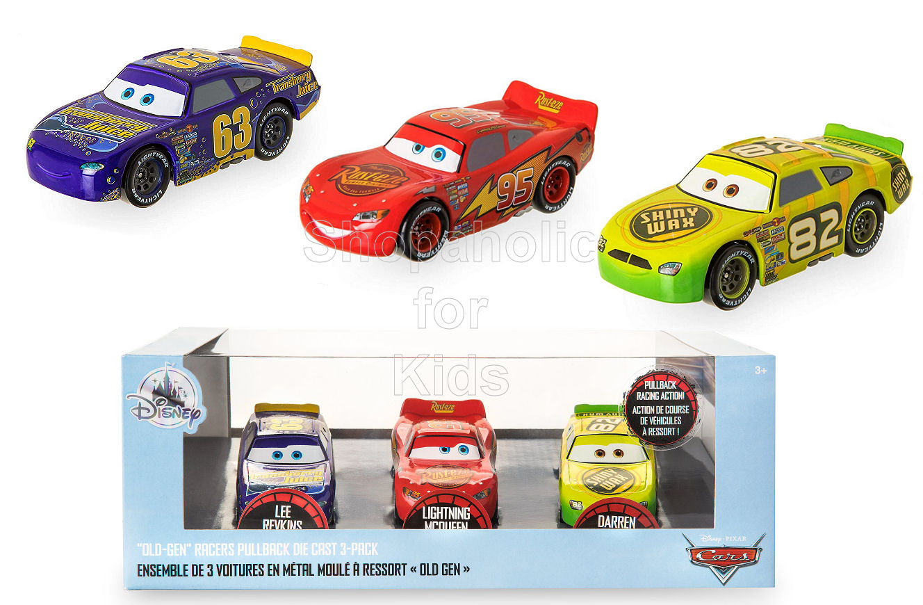 Disney Cars ''Old-Gen'' Racers Pullback Die Cast Set