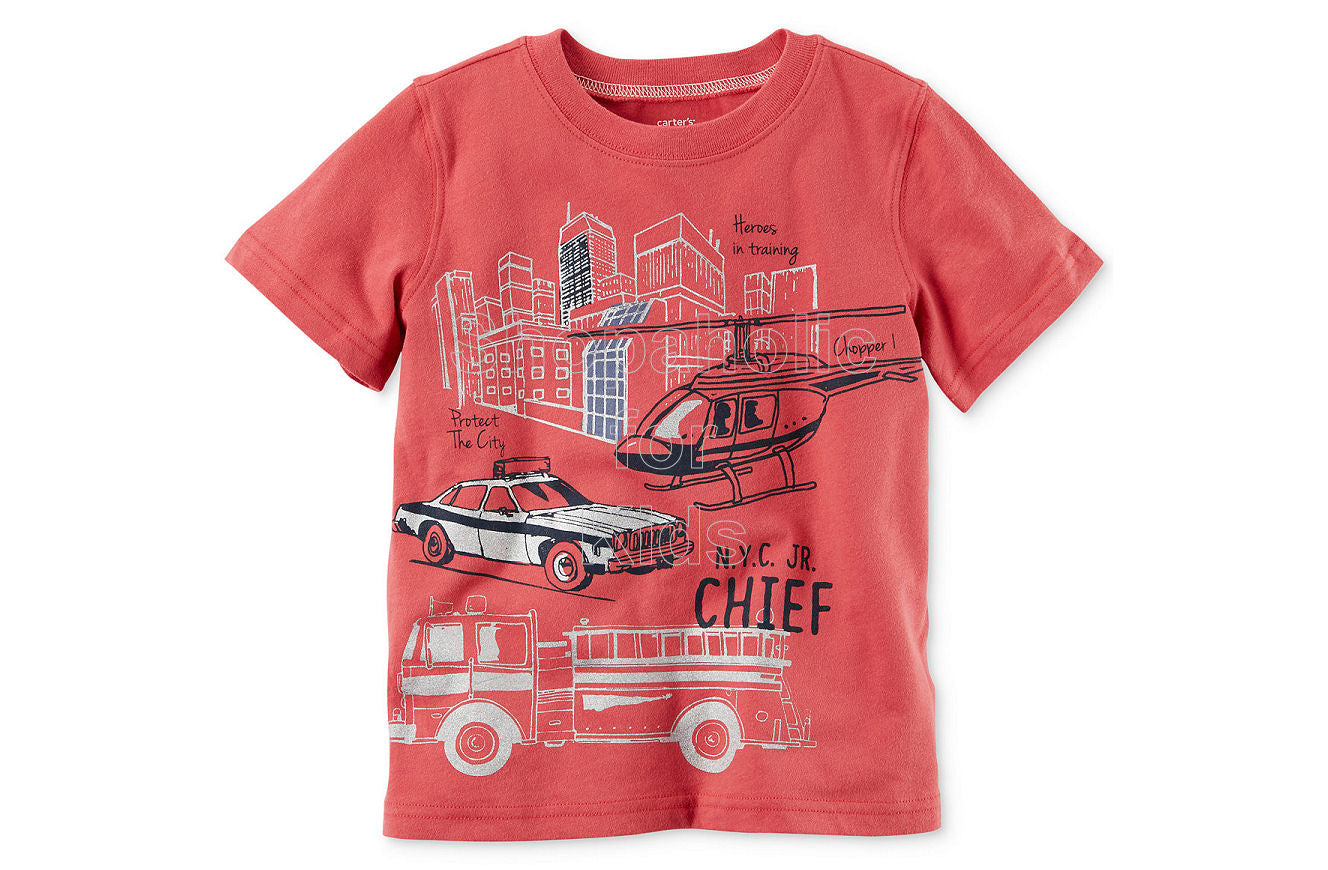 Carter's Firetruck-Print Cotton T-Shirt - Shopaholic for Kids