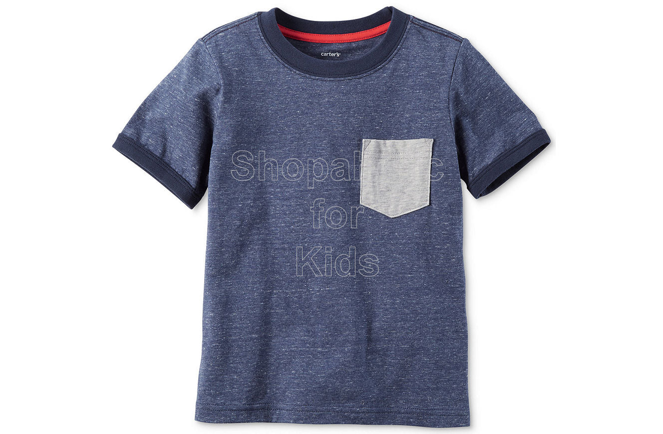 Carter's Pocket Cotton T-Shirt - Heather - Shopaholic for Kids