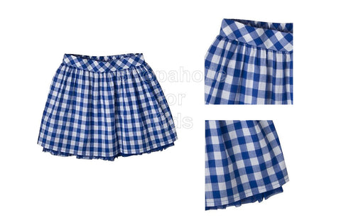Cherokee Infant Girls' Gingham Skirt - Blue