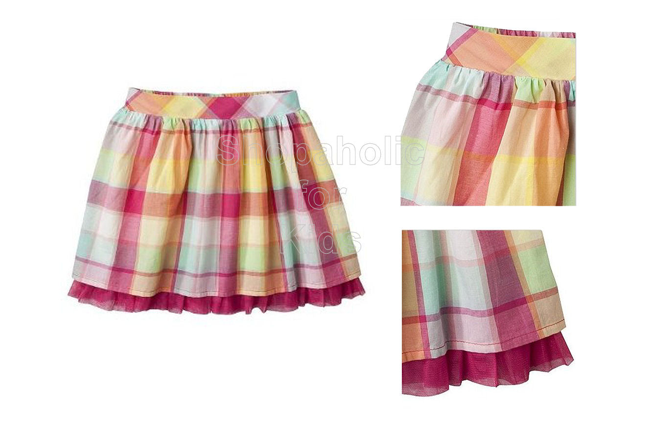 Cherokee Infant Girls' Gingham Skirt - Pink - Shopaholic for Kids