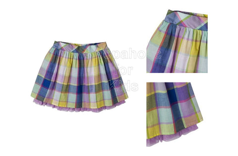 Cherokee Infant Girls' Gingham Skirt - Violet