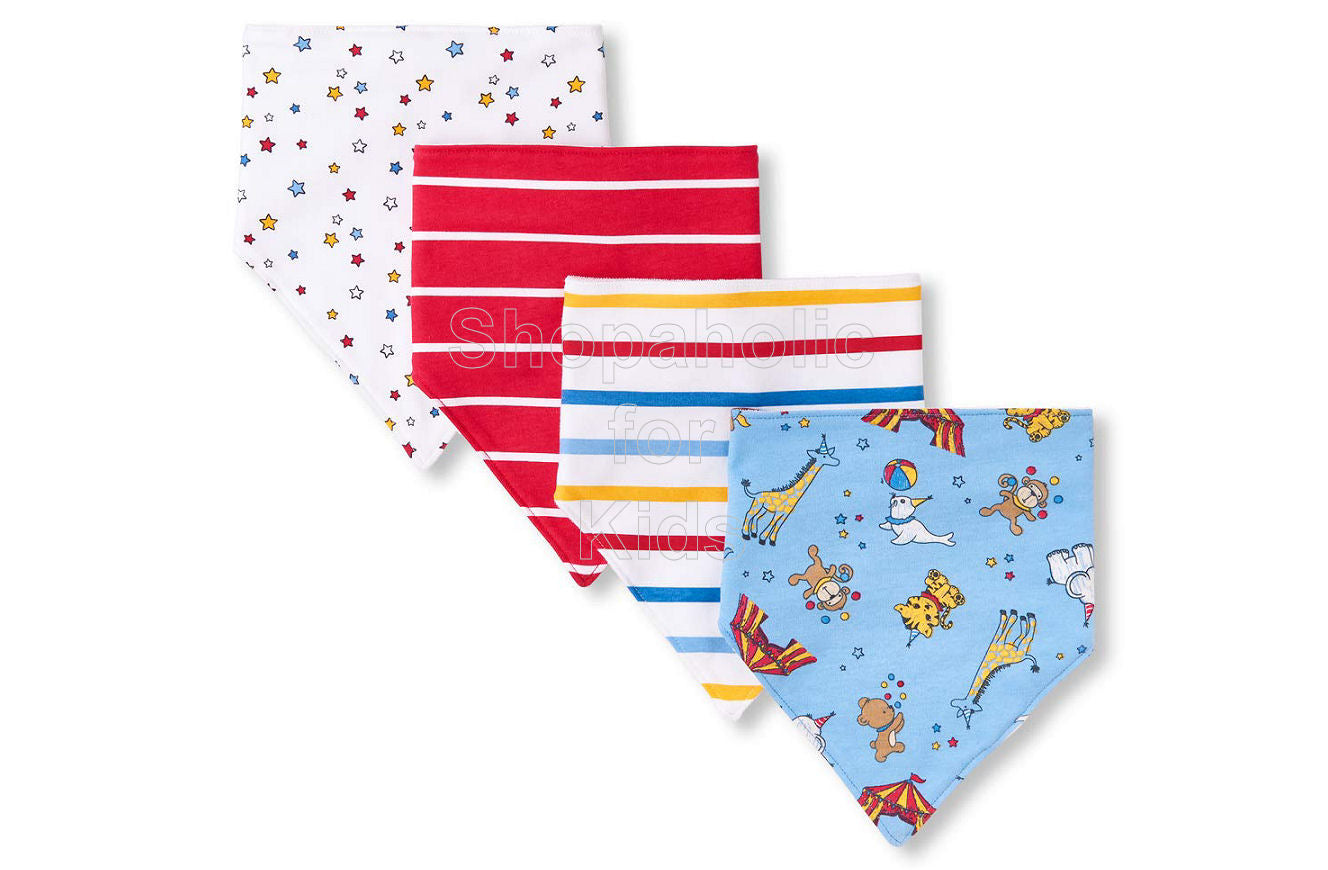 Children's Place Bundles Long Bandana Bibs, Baby Boy Circus Party, Pack of 4 - Shopaholic for Kids