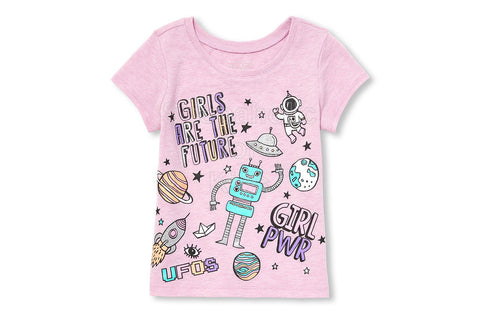 Children's Place Girls are the Future Graphic Top