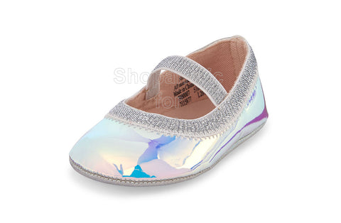 Childrens Place Holographic Ballet Flats, 0-3mos