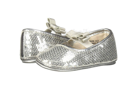 Children's Place Sequin Ballet Silver Flats for Baby