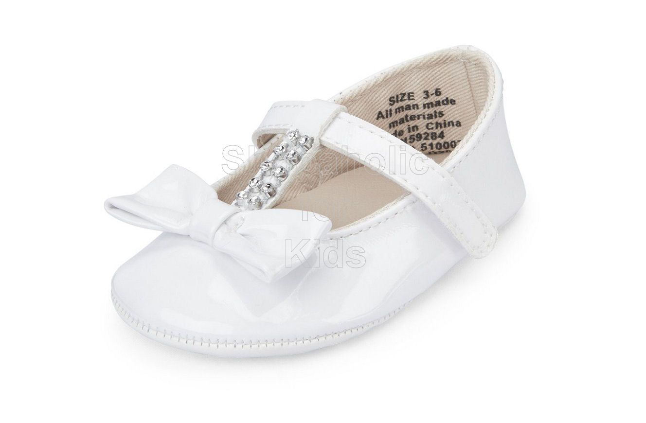 Children's Place Ballet Flats White, 0-3mos - Shopaholic for Kids