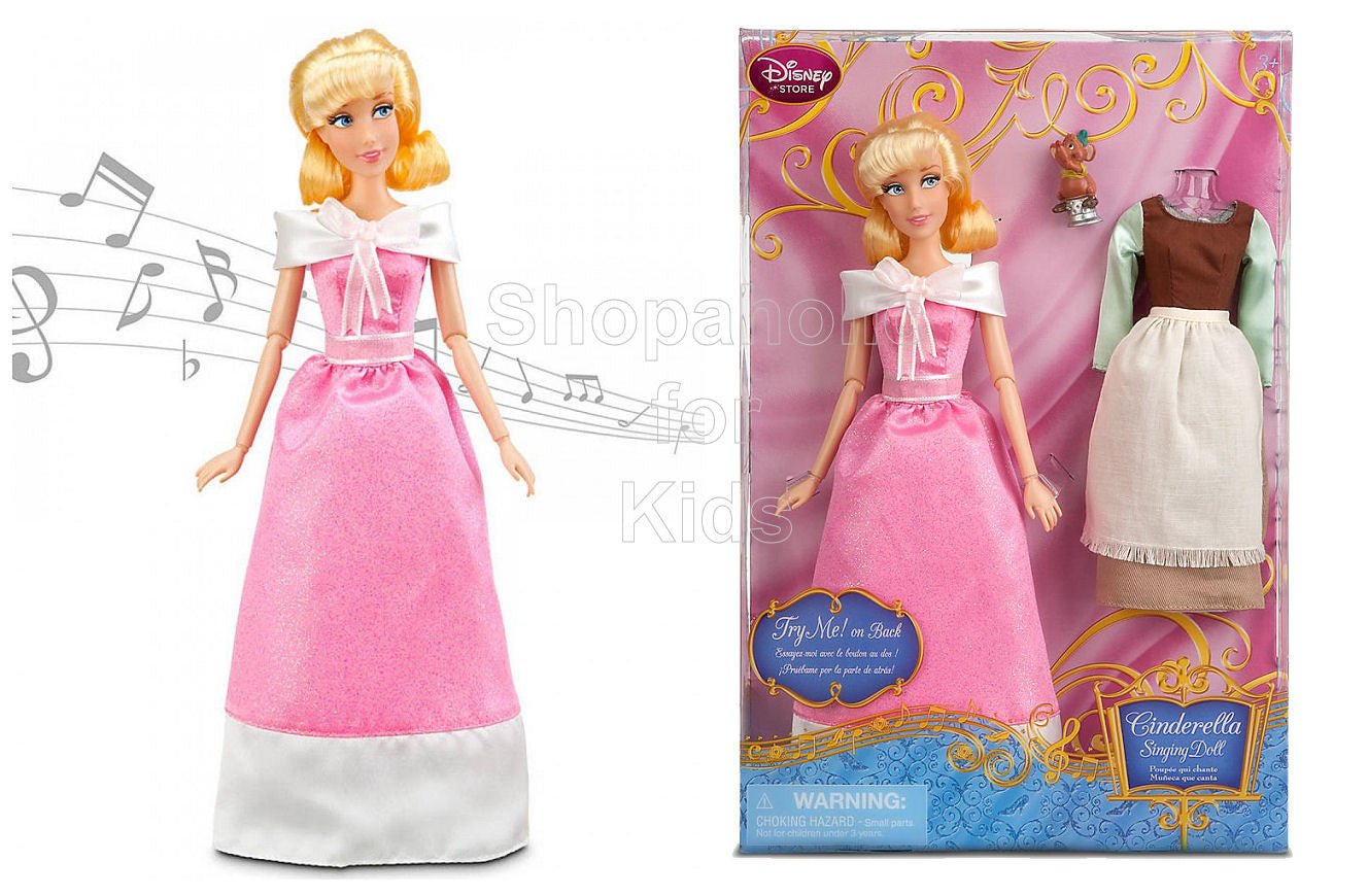 Disney Princess Cinderella Singing Doll and Costume Set - 11 1/2'' - Shopaholic for Kids