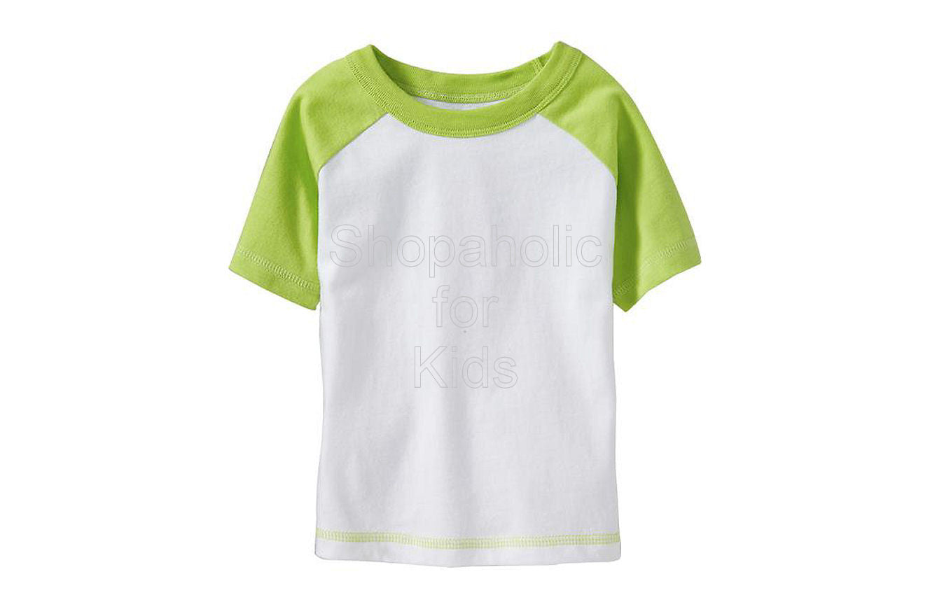 Old Navy Color-Block Raglan Tees - Lime Green - Shopaholic for Kids