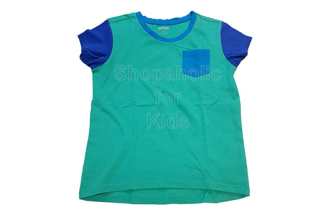 Gymboree Color Block Tee for Girls Blue-Green