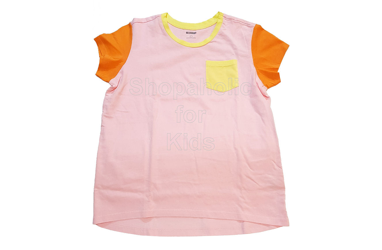 Gymboree Color Block Tee for Girls Pink-Yellow - Shopaholic for Kids