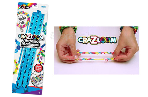 Cra-Z-Loom Metallic Loom and Hook Set - Blue