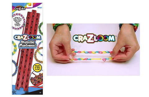 Cra-Z-Loom Metallic Loom and Hook Set - Red